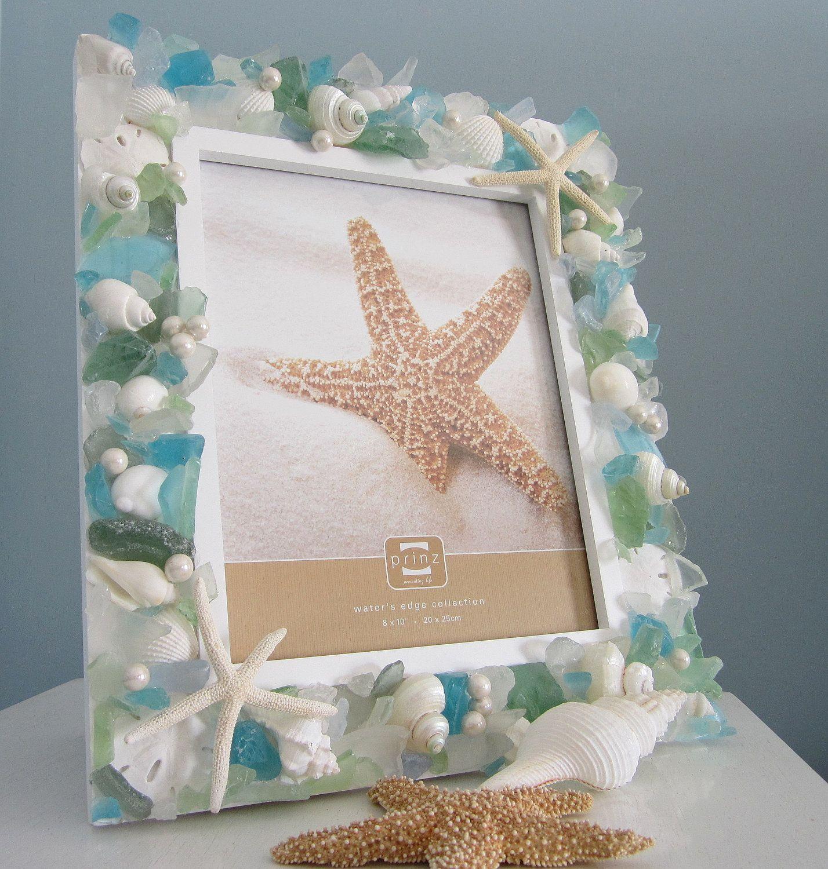 Nautical Seashell Frame W Pastel