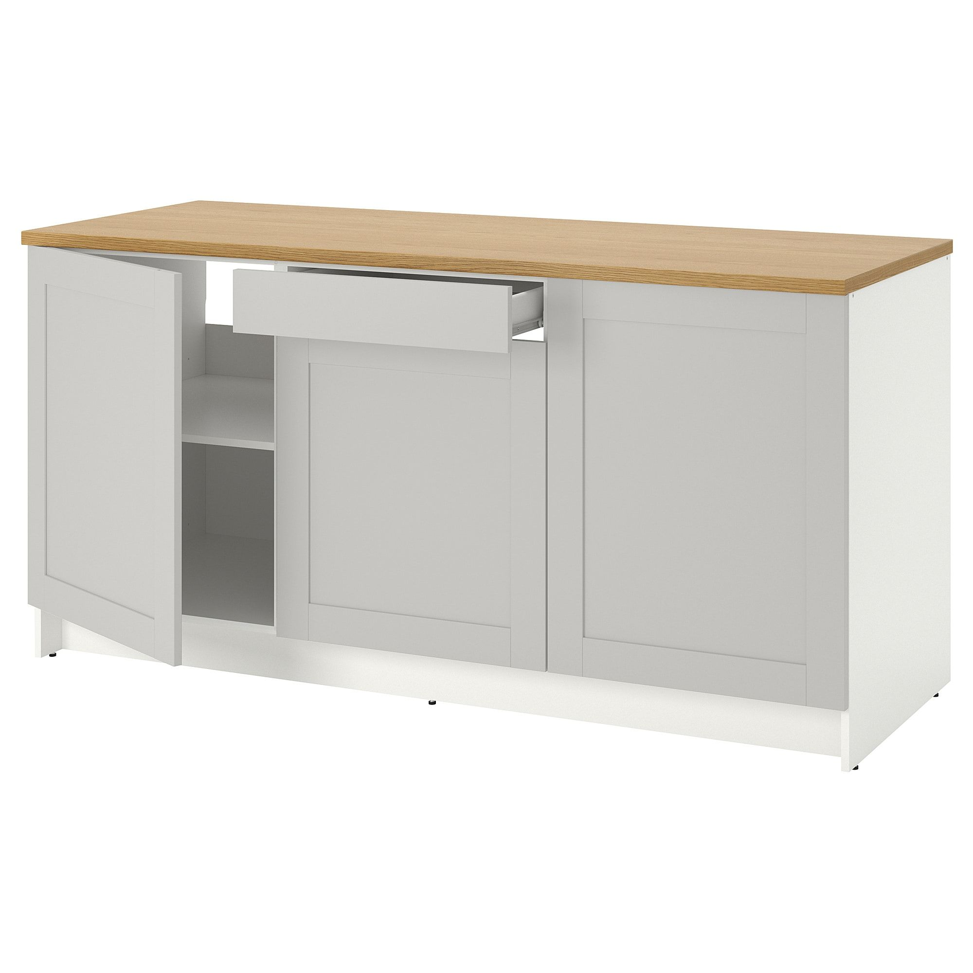 Knoxhult Base Cabinet With Doors And Drawer Gray 72x24x36 Kitchen Modular Freestanding Cooker Cabinet Doors