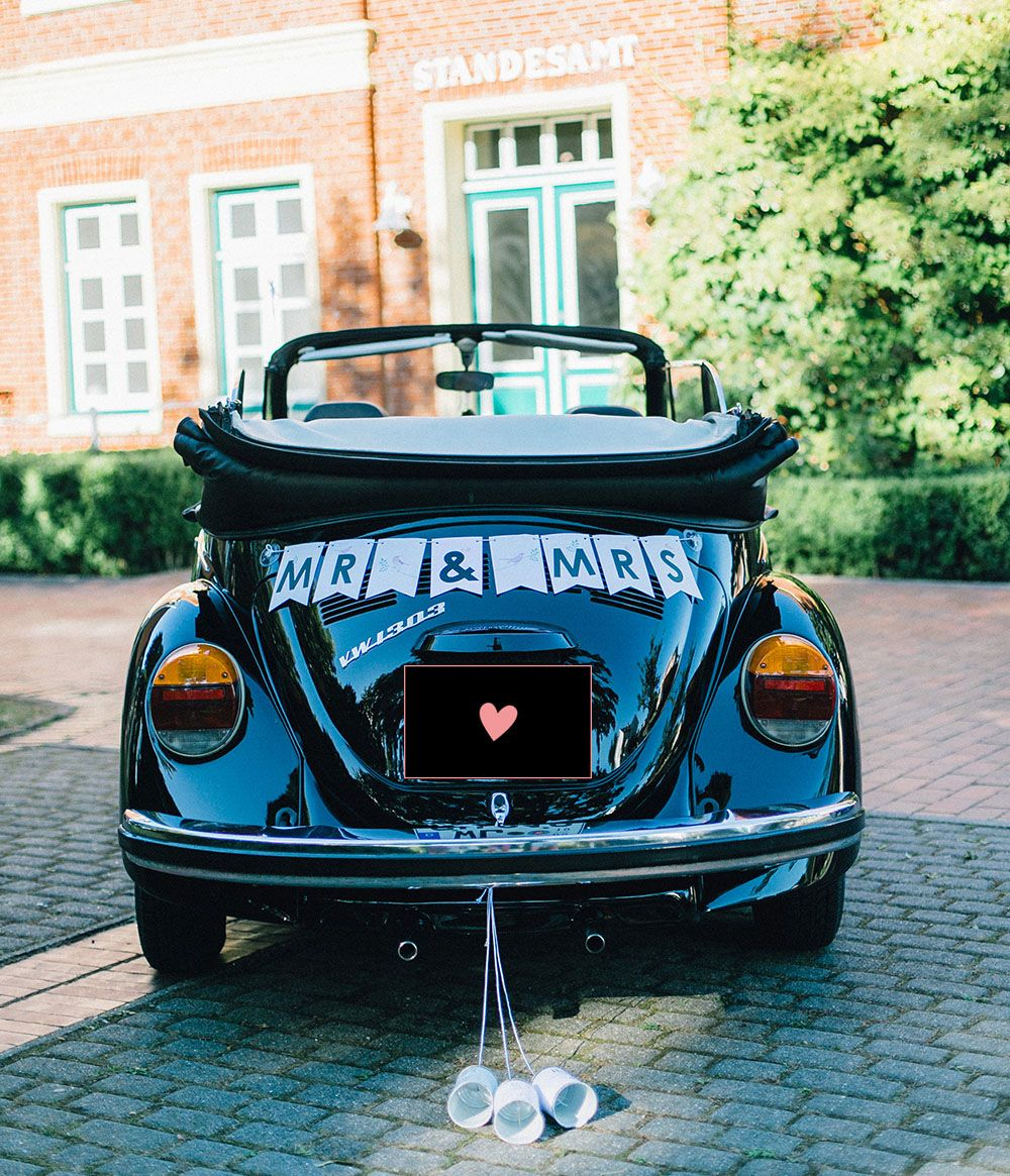 DIY September Euer Hochzeitsauto wunderschn selbst