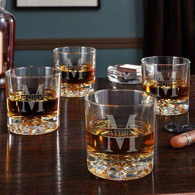 Home Wet Bar Oakmont Personalized Fairbanks 11 Oz Whiskey Glass Personalized Whiskey Home Wet Bar Whiskey Glasses Set