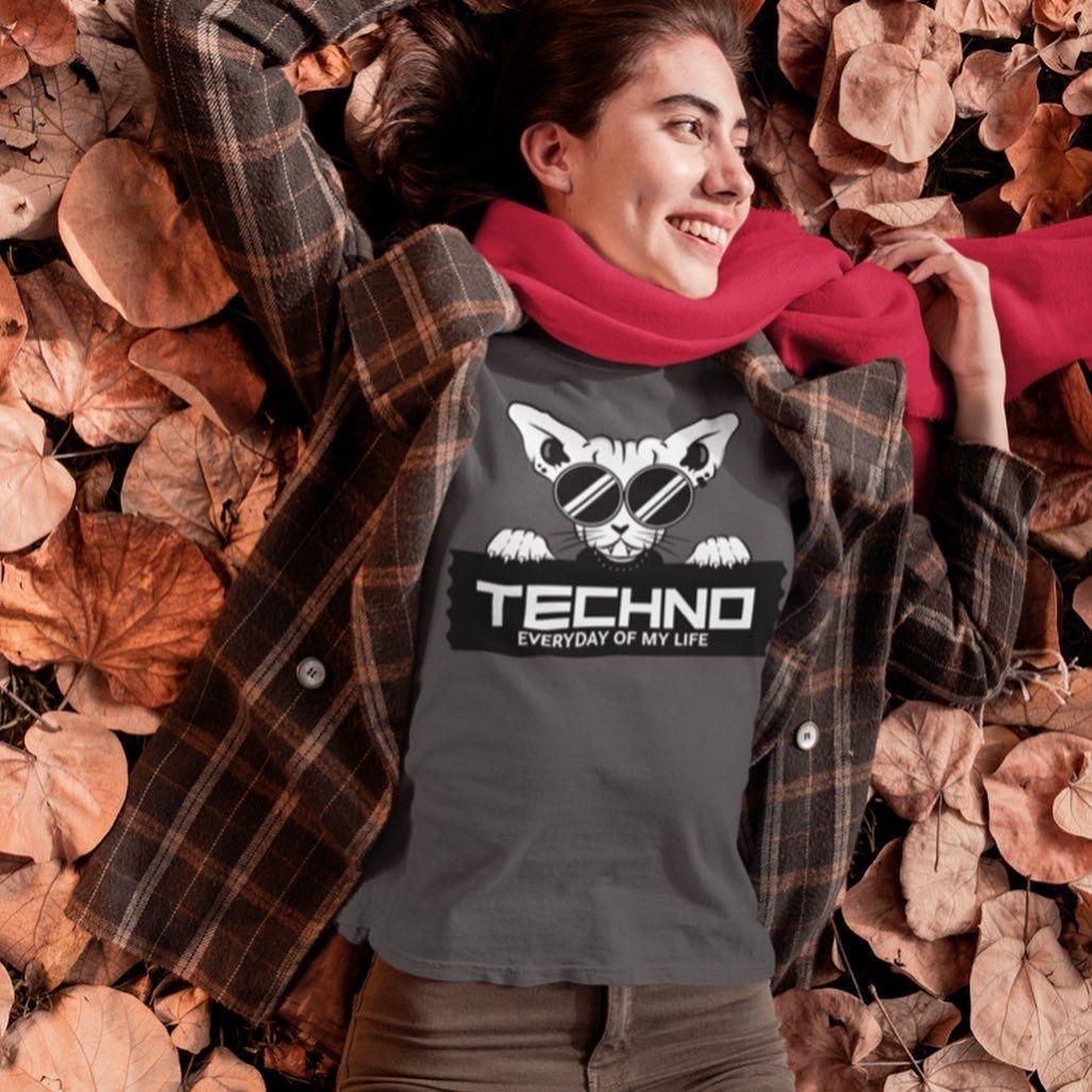 #techno #technomusic #catshirts