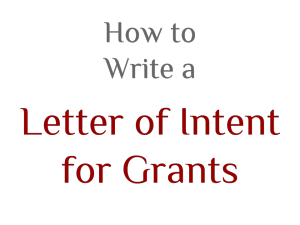 letter of intent for grant