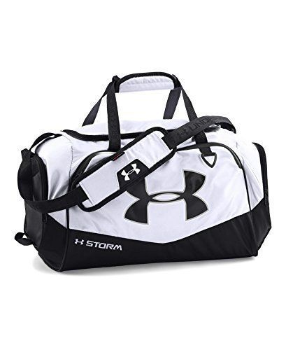 48b026b84dc0 ... abrasion-resistant bottom   side panels Large front zippered organiza.  Under-Armour-Duffel-Gym-Bag-Man-Women-Sport-Shoulder-Strap-Cloth-Trip-White