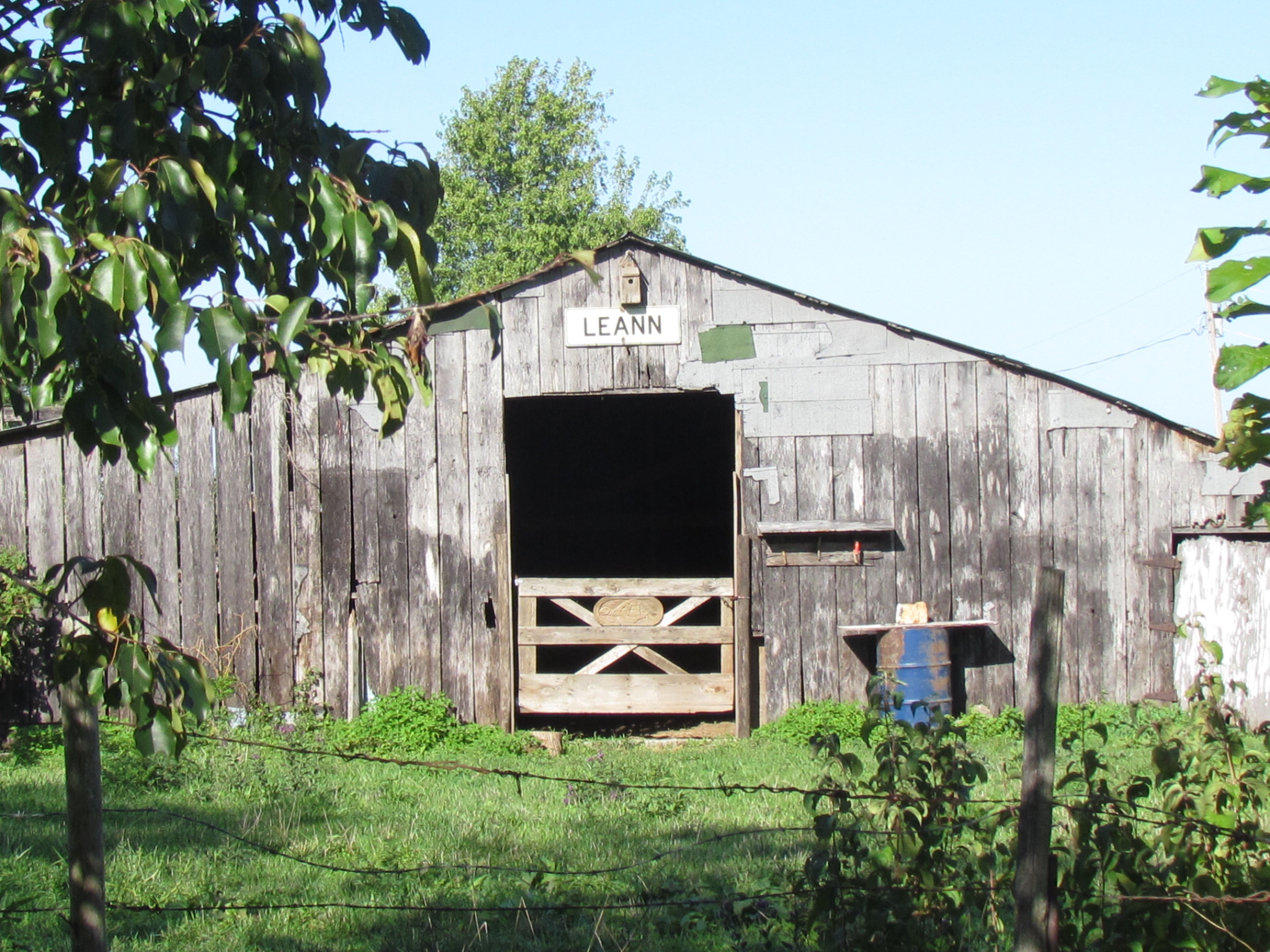 The old Enlow Dairy Barn 172 years old as of 2013  j' Larson
