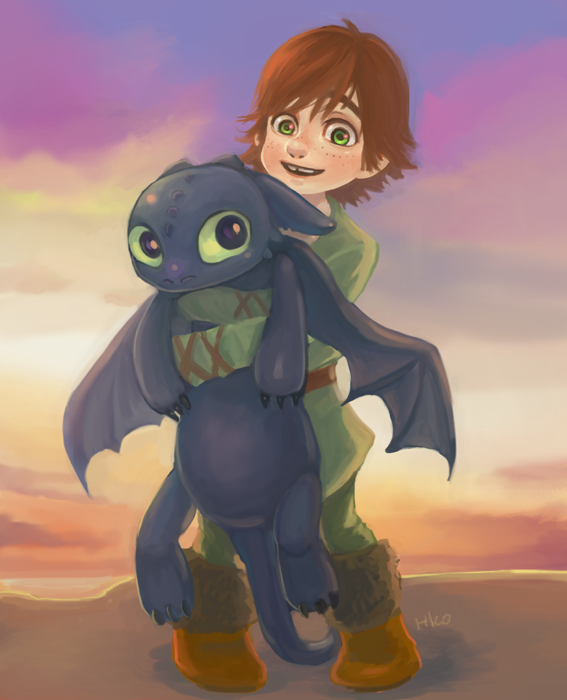 Aww Little Hiccup and Little Toothless SO CUTE!!!!! XD :D :) ^_