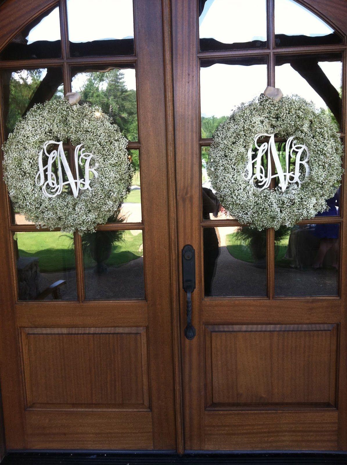Monogram Door Wreath