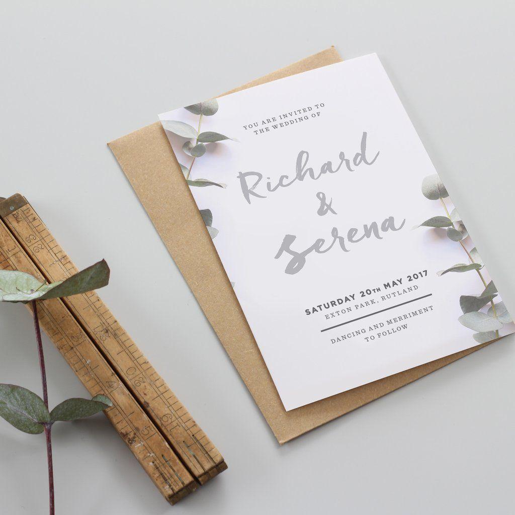 Eucalyptus Wedding Stationery Range | Wedding stationery sets ...