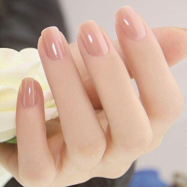 Simple Yet Sophisticated Short Natural Nails Nail Art Polish