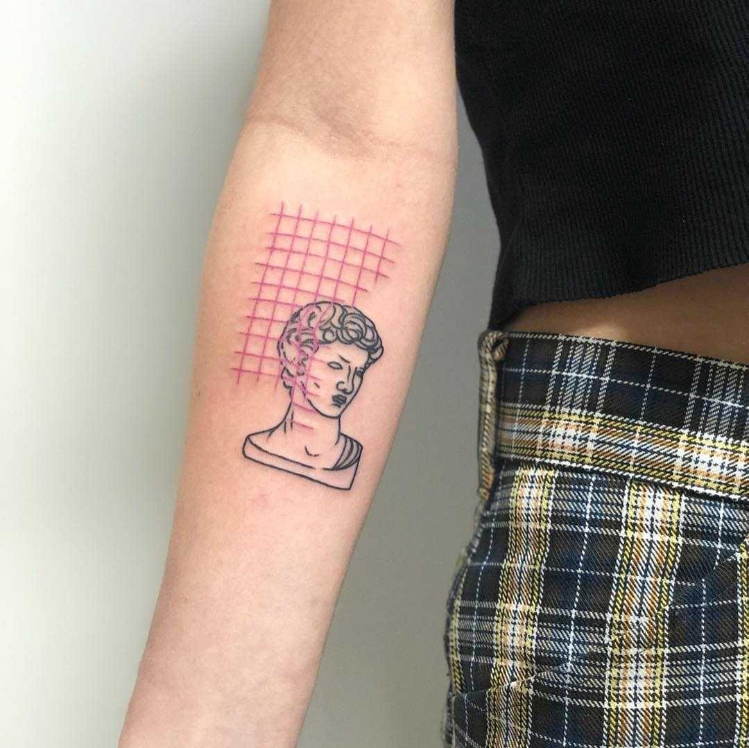 David's bust by Hand Job Tattoo Star tattoos for men