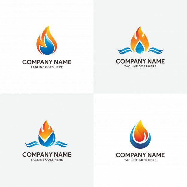 Set Of Plumbing Logo Design Plumbing Logo Plumbing Logo Design Logo Design