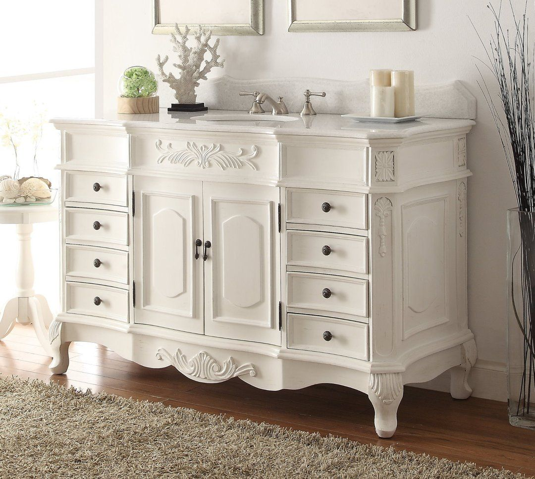 Chans Furniture 56 Benton Collection Antique White Morton