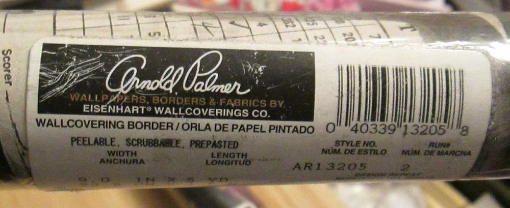 2 rolls arnold palmer golf wallpaper border eisenhart wallcoverings