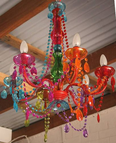 Rainbow Chandelier For The Girls Room