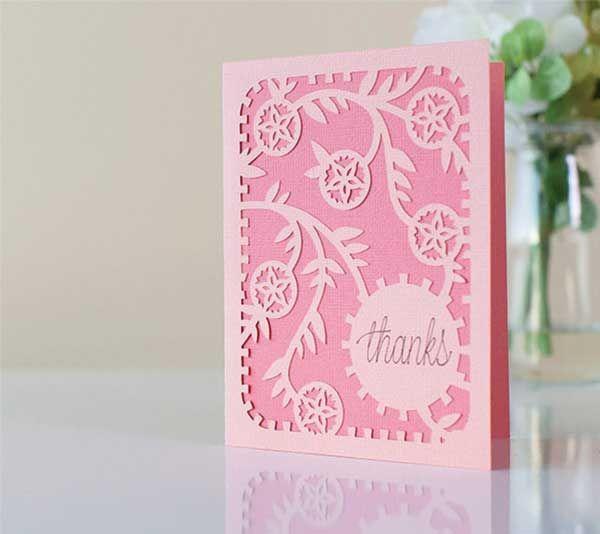 floral thanks card  cricut explore cards cricut cricut