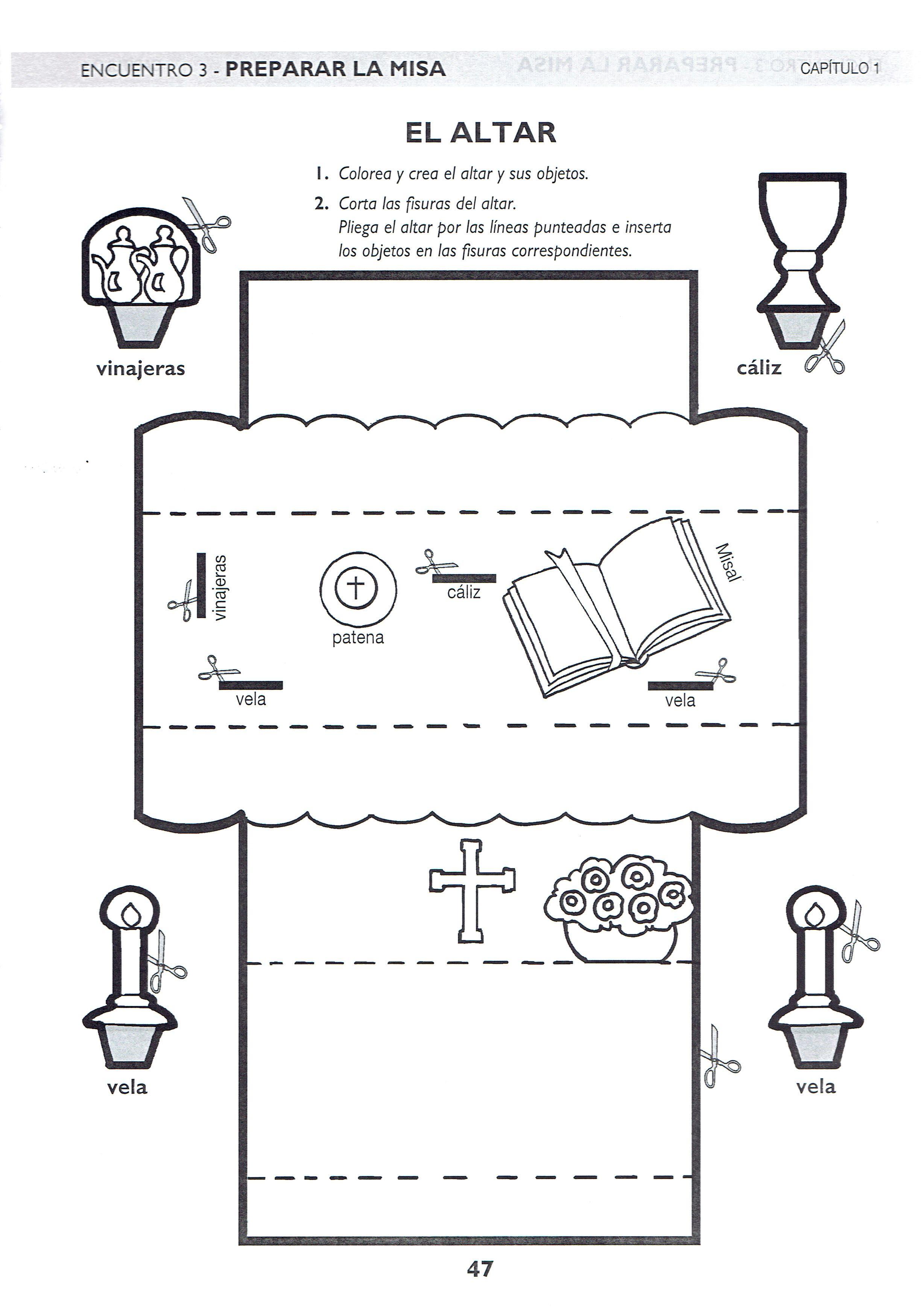 Descubrir La Misa El Altar Catequesis Educacion Religiosa Temas De Catequesis