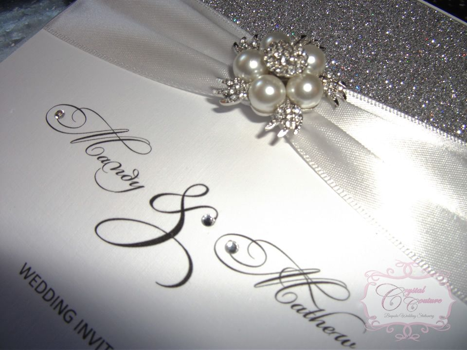 handmade wedding cards ireland%0A Crystal Couture Wedding Stationery are designers of elegant  glitzy and  modern luxury handmade wedding invitations