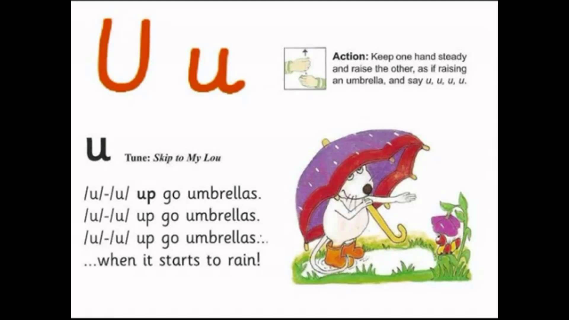 Jolly Letter U