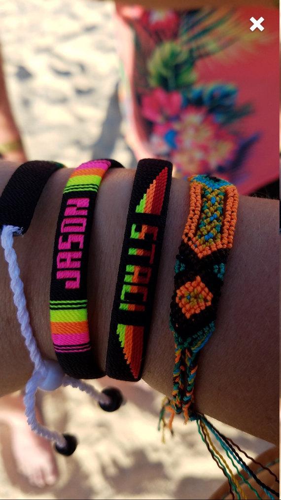 Customized Friendship Name Bracelets