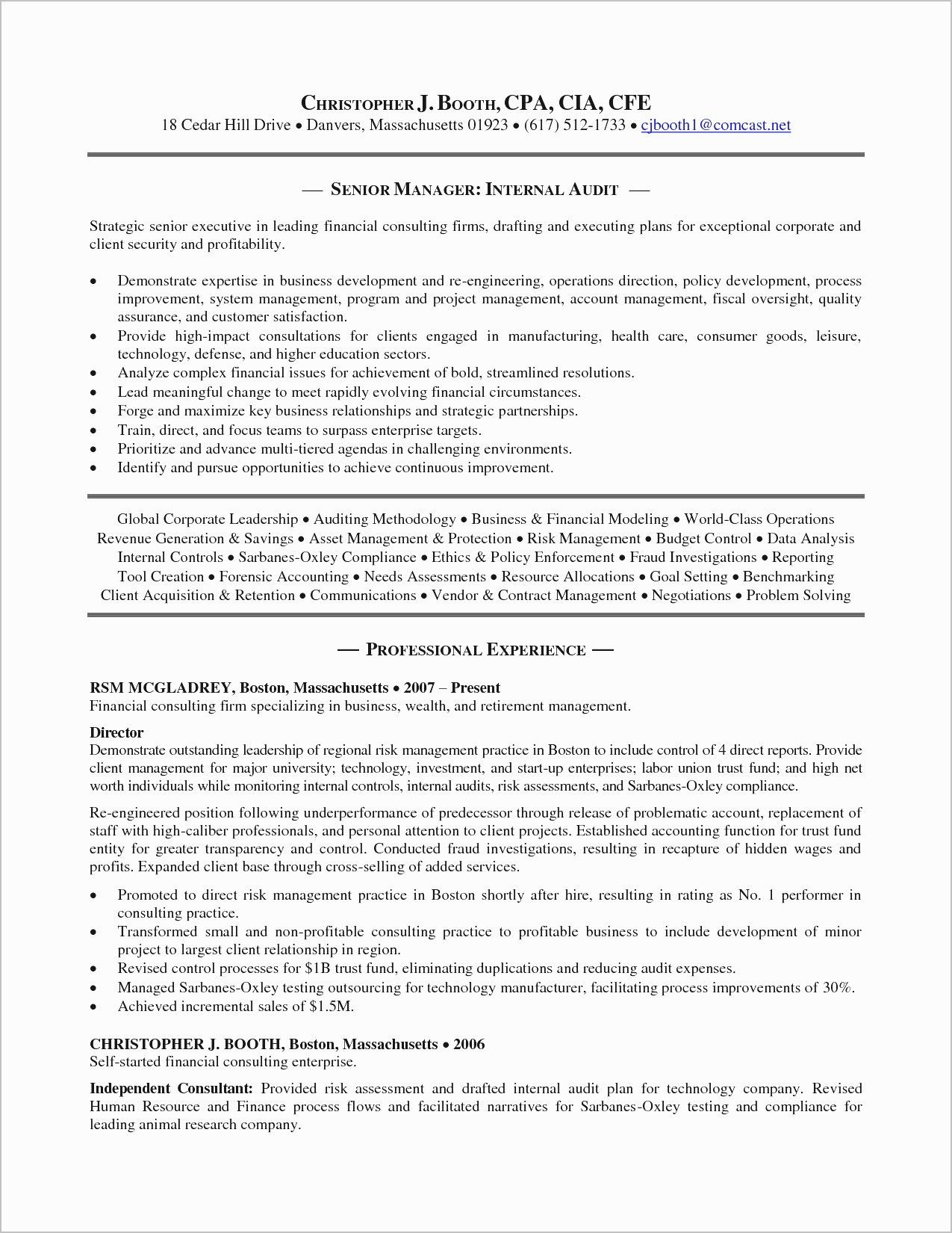 27 Audit Cover Letter Internal Audit Profit And Loss Statement Resume