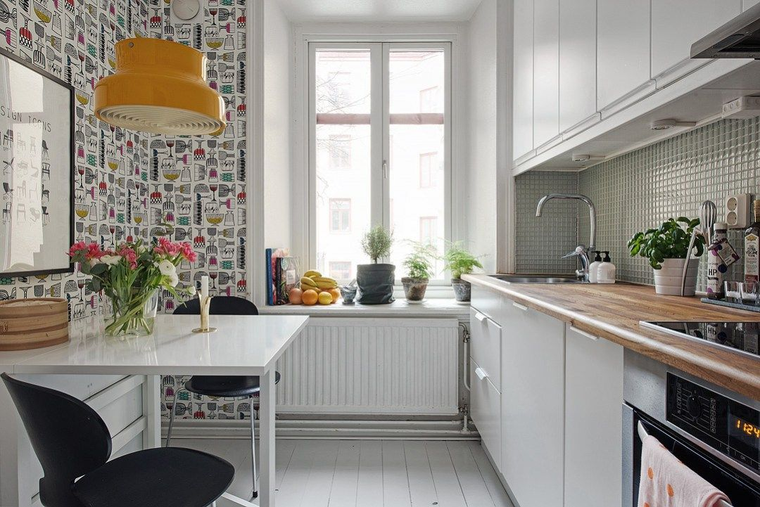 Si al papel de pared pintado en la cocina blog for Decoracion de cocinas pequenas modernas