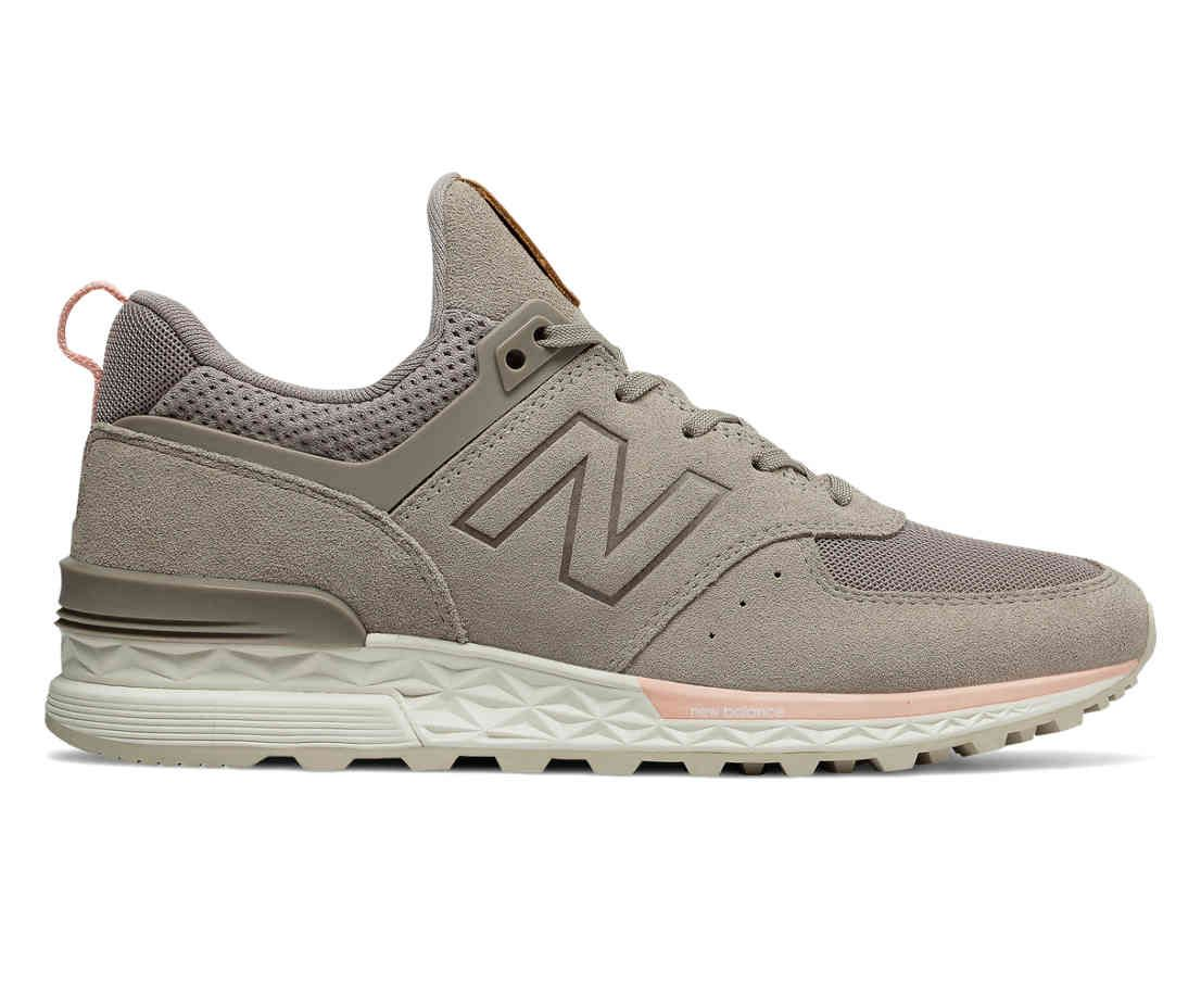 574 Sport, Flat White with Himalayan Pink Womens casual