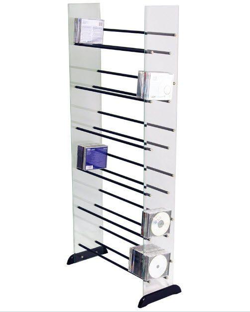 Cd Dvd Storage Unit Organizer Shelves Shelf Glass Metal Rack Office Tower Home  sc 1 st  Pinterest & Cd Dvd Storage Unit Organizer Shelves Shelf Glass Metal Rack Office ...
