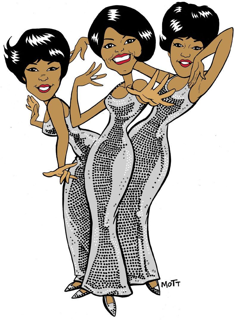 Diana Ross & The Supremes Cartoons | Music Artist and ...