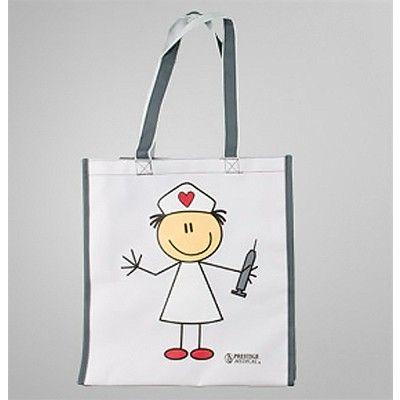 Prestige Medical Nurse Stick Figure All Purpose Tote Bag Stick Figures Stick Art Fancy Writing