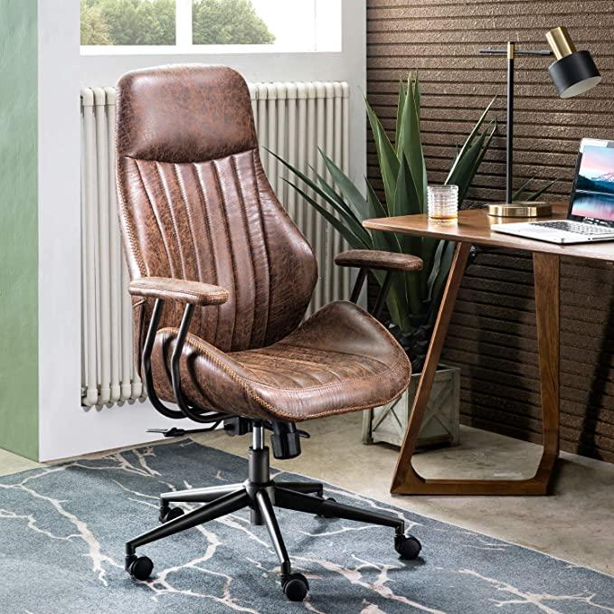 Amazon Com Ovios Ergonomic Office Chair Modern Computer Desk Chair High Back Suede Fabric Desk C In 2020 Modern Office Chair Modern Computer Desk Ergonomic Desk Chair
