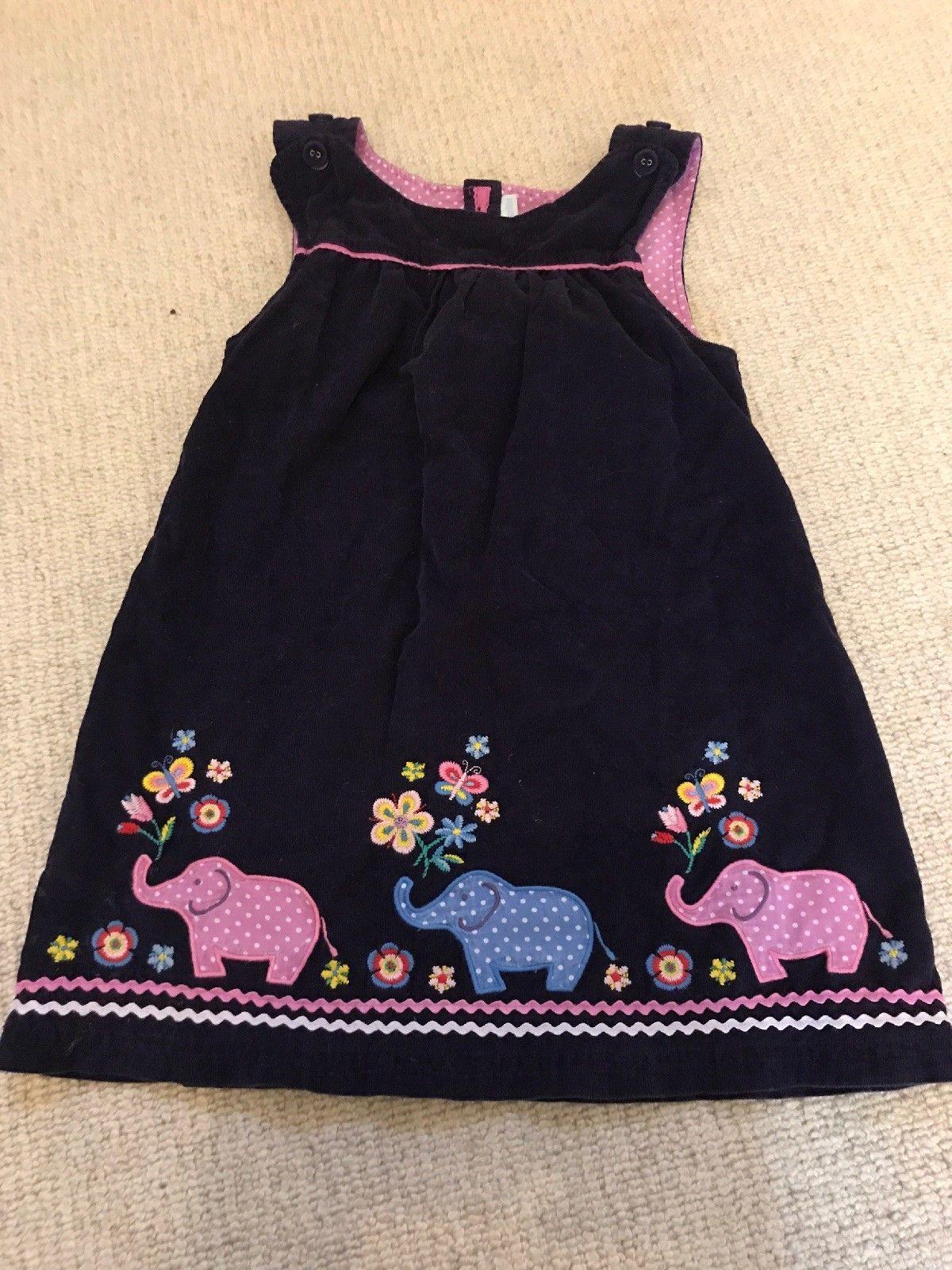 0c1fed583dfb Jojo Maman Bebe Purple Elephants Dress Age 5-6