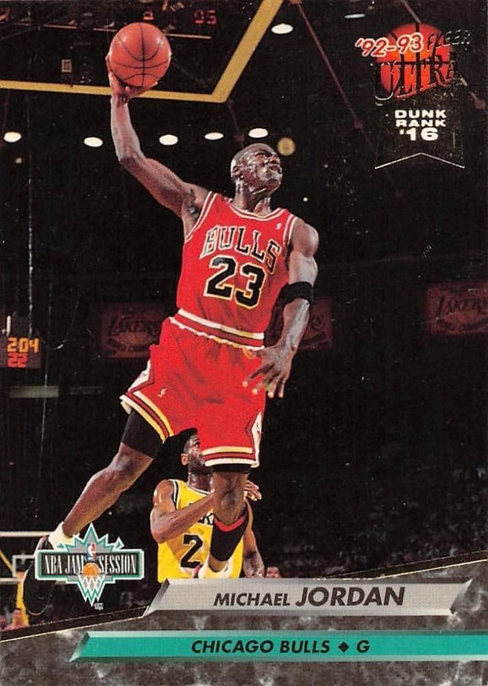199293 Fleer Ultra 216 Slam Dunk Michael Jordan Basketball Card