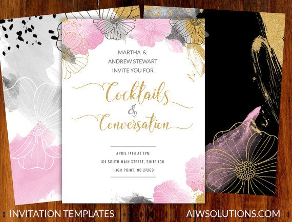Party invitations, event invitation, save the date by aiwsolutions - event invitation templates