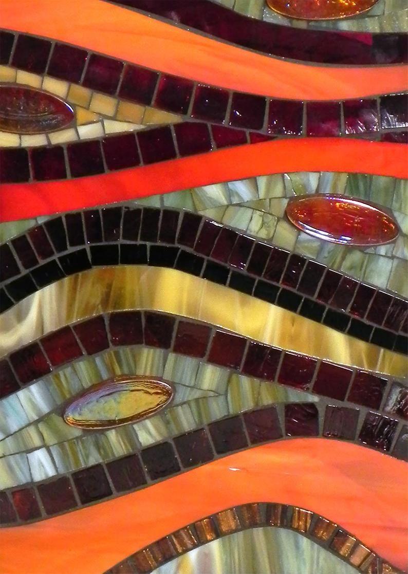 Lampe Debout En Mosaique De Verre Teinte Lampe De Plancher Lampe De Table D Accent Dans Des Couleurs Chaudes Rouge Jaune Orange Ambre Mosaic Glass Stained Glass Mosaic Standing Lamp
