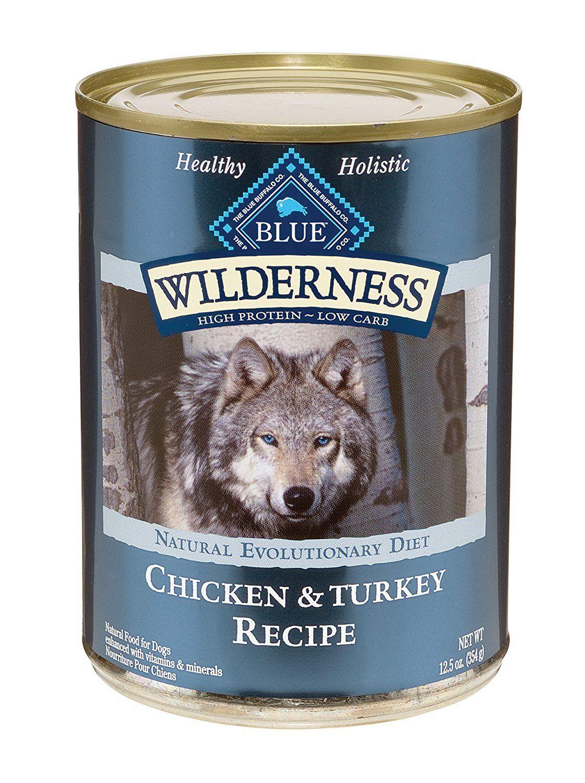 Blue buffalo wilderness grain free canned dog food turkey
