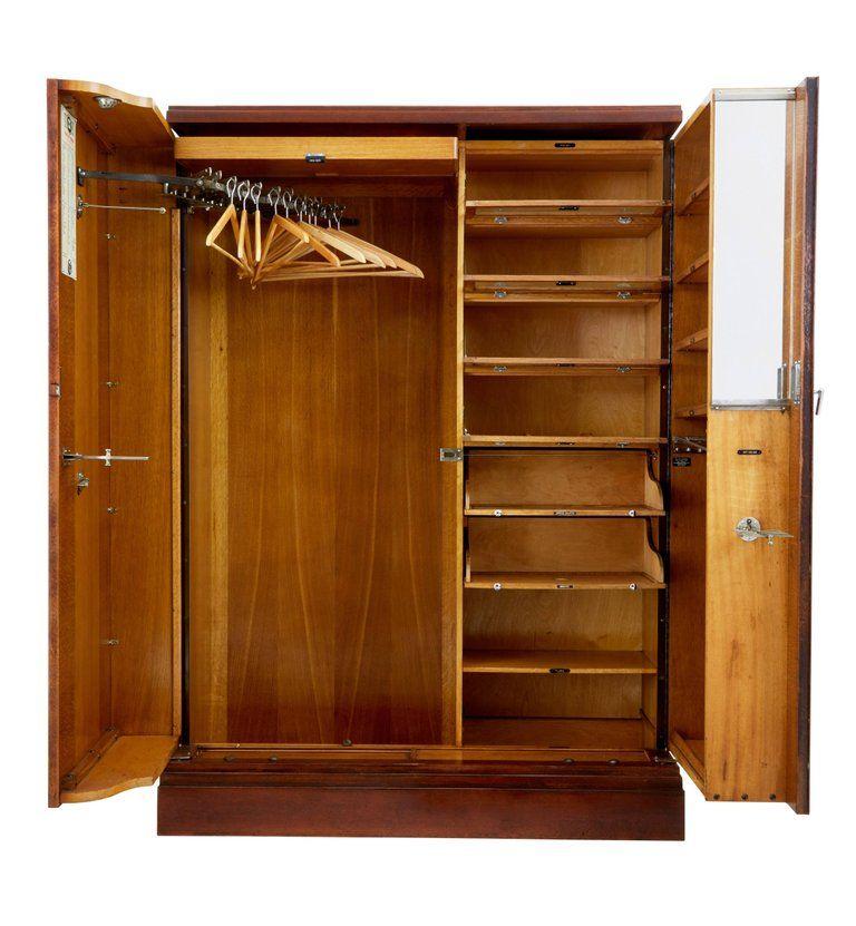 1930s Mahogany And Oak Compactum Ltd Gentleman S Wardrobe Gentleman S Wardrobe Bedroom Armoire Armoire
