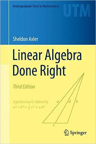 Sheldon axler linear algebra done right pdf