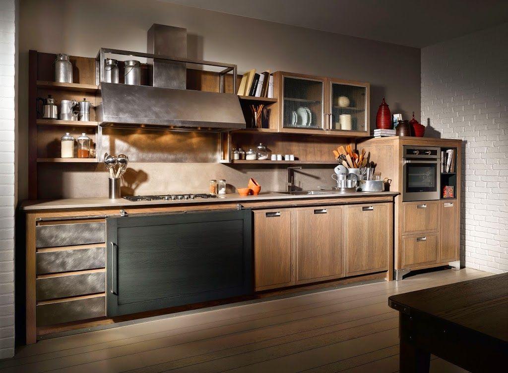 Cucine industrial chic firmate l 39 ottocento cucine stile for Appartamento design industriale