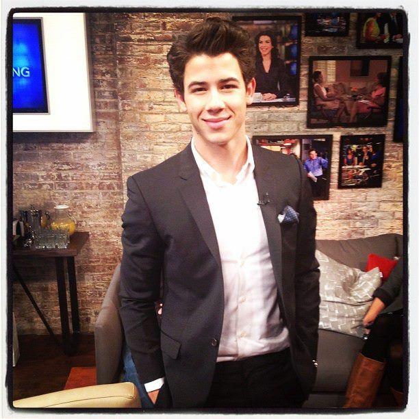 Nick Jonas in the CBS This Morning greenroom 2/7/12