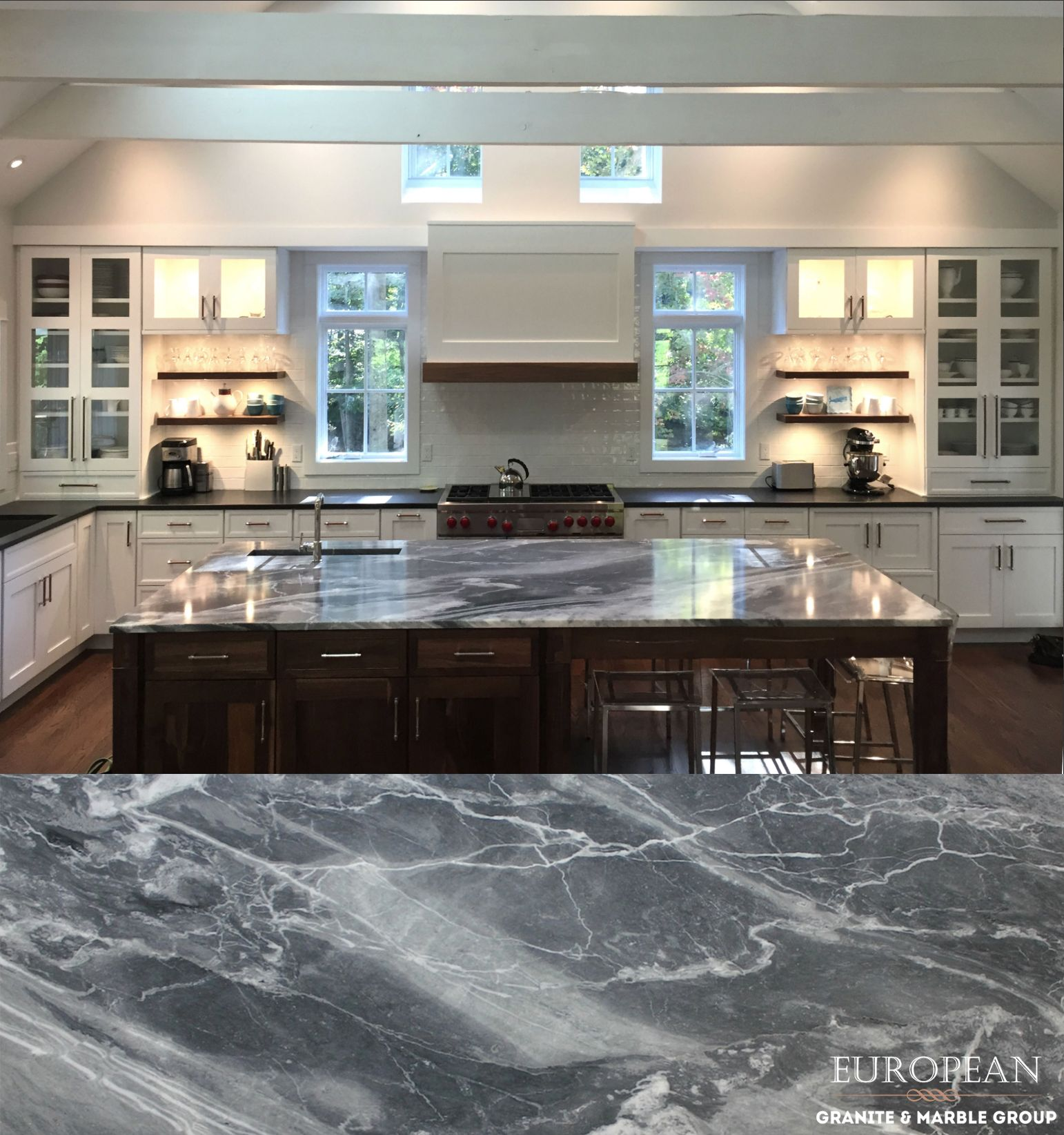 This Stunning Blue De Savoie Marble Countertop Is The Focal