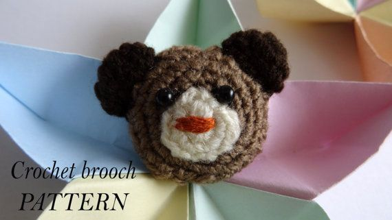 Teddy Bear Pattern Crochet Brooch Pattern By Vekicrochetland