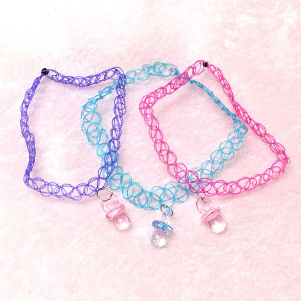pacifier tattoo choker melanie martinez pastel grunge pastel goth liked on. Black Bedroom Furniture Sets. Home Design Ideas
