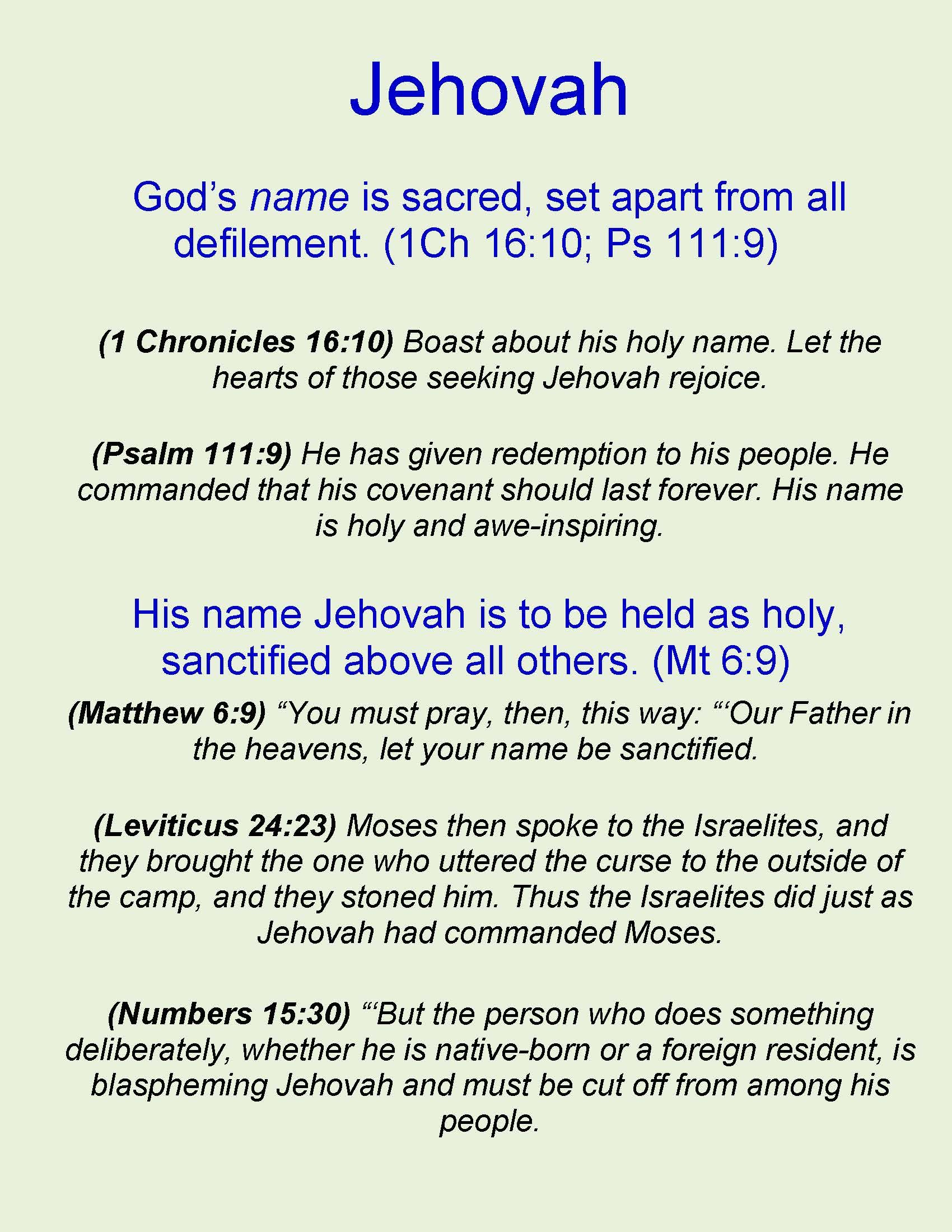 Jehovah | Bible Subjects | Pinterest | Jehovah, Bible and Scriptures