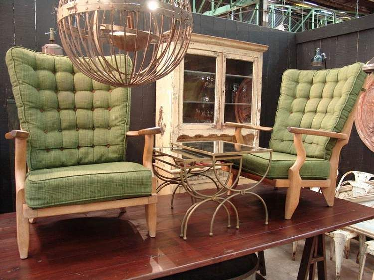 Vintage Mid-Century Modern Pair of Guillerme and Chambron Finger Chairs Grand Comfort Model – SOLD