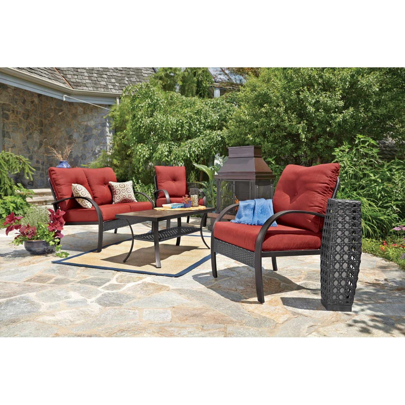 Great Anderson 4 Pc. Deep Seating Set   All Patio Collections   Ace Hardware