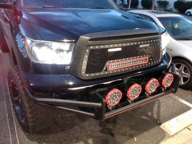 Nfab rsp bumper with 4 7 led lights trex grilles with 20 led bar nfab rsp bumper with led lights trex grilles with led bar anzo ubar headlights with hids aloadofball Images