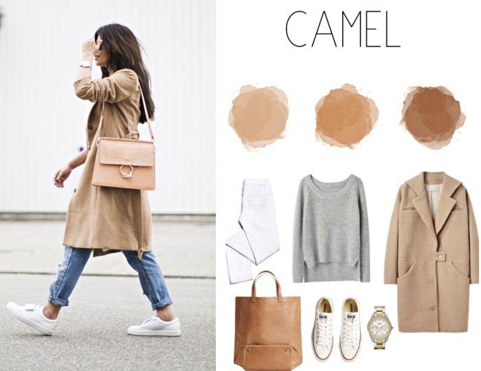 1001 visions chic et sublimes avec la couleur camel mode femme pinterest mode tenue and. Black Bedroom Furniture Sets. Home Design Ideas
