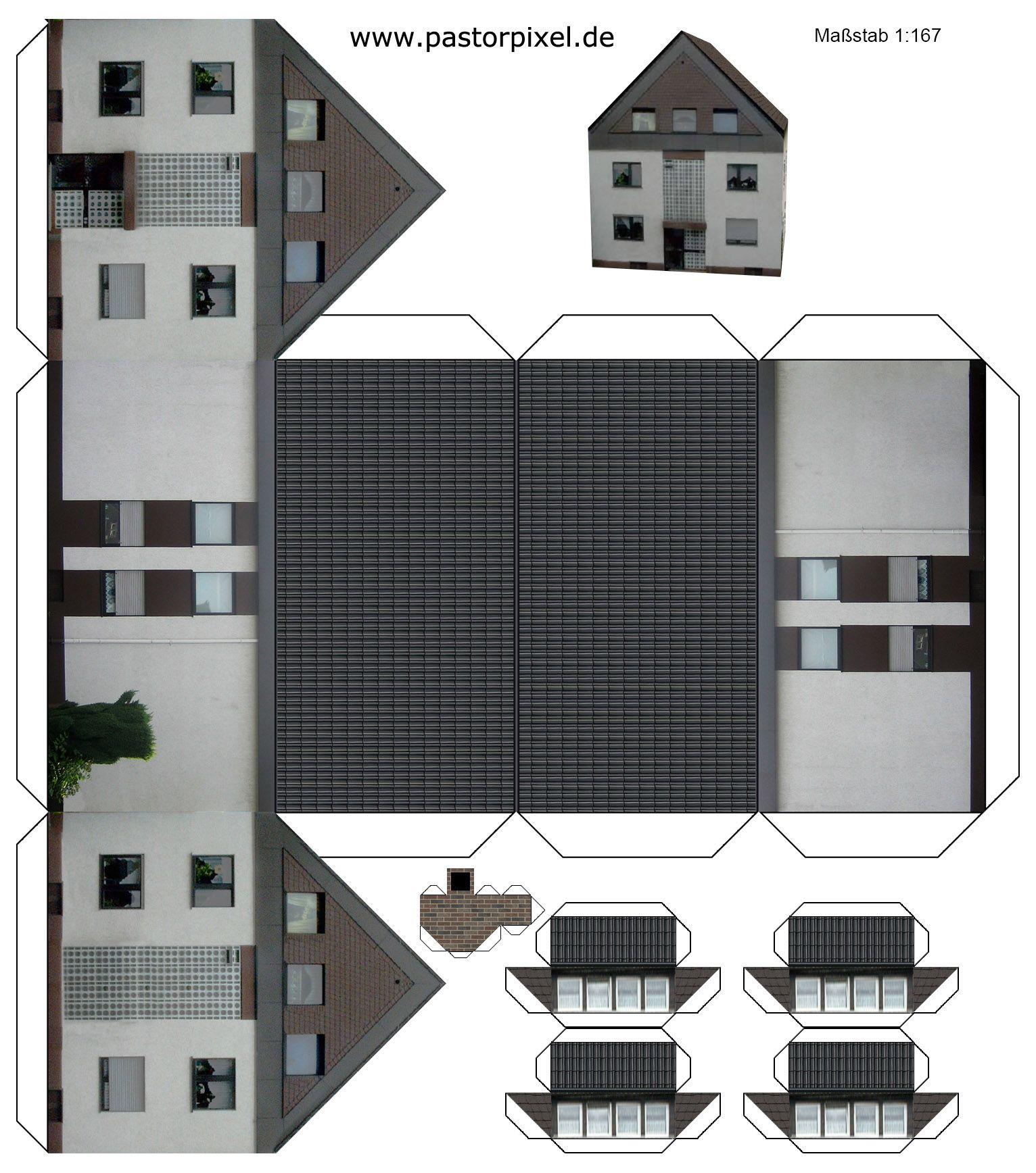 ausschneidebogen haus deko bastelarbeiten aus papier. Black Bedroom Furniture Sets. Home Design Ideas
