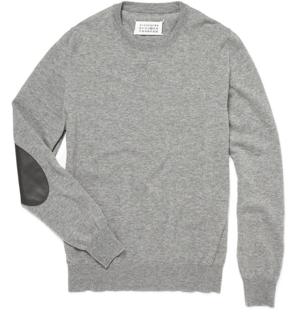 Elbow patch wool sweater maison martin margiela boy
