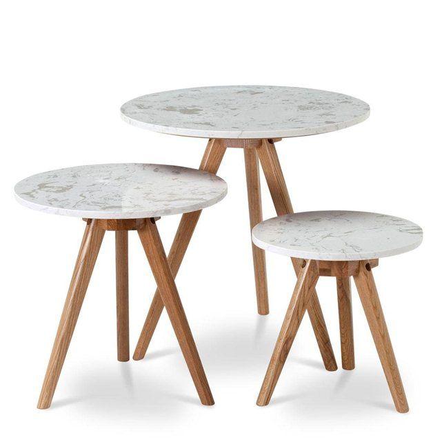 dd3eba67c280fb Table ronde marbre et bois White Stones DRAWER   Royal Savoy ...