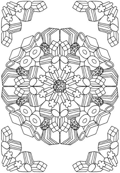 Anti-coloring for adults. Art Therapy | VK | Coloring | Pinterest ...